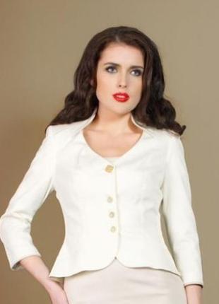 Блейзер белый, украинского бренда essa, пог 57 пот 52
