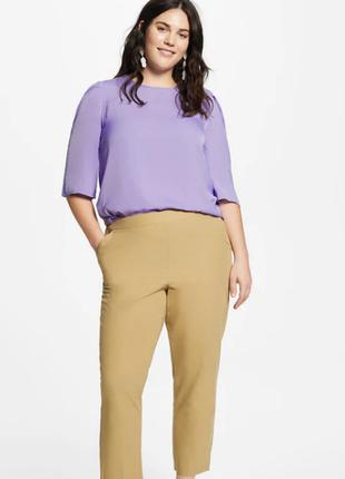 Блуза с плиссированным рукавом,манго виллетта, р.хл