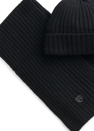 Chaps (от ralph lauren) ребристая вязаная шапка и шарф set