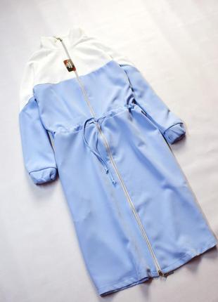 Плаття міді в спортивному стилі на кулісці, колір блакитний з ...
