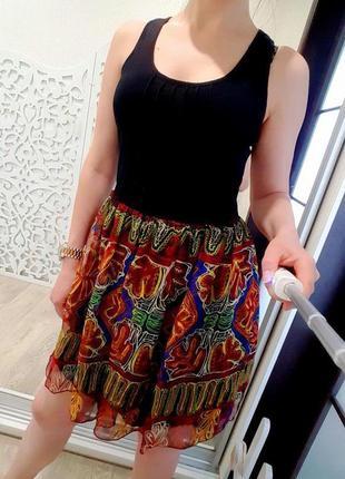 Платье m lavand черное стильное воздушное летнее легкое