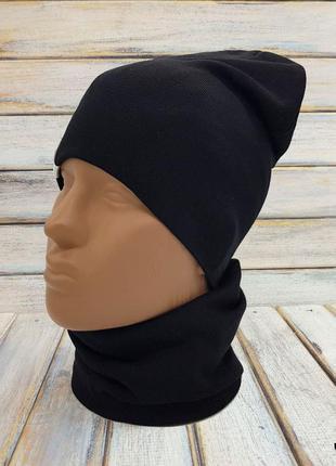 Детский набор шапка хомут снуд