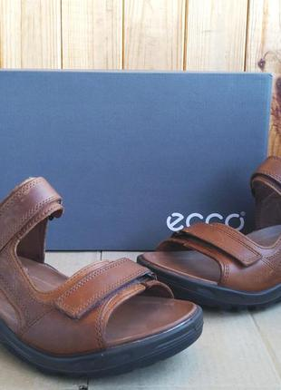 Шикарные новые полностью кожаные сандалии босоножки ecco оригинал