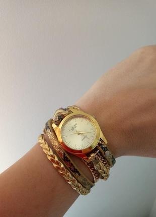 Часы браслет carude золотой блеск #розвантажуюсь