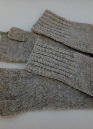 Длинные перчатки без пальцев шерсть #розвантажуюсь