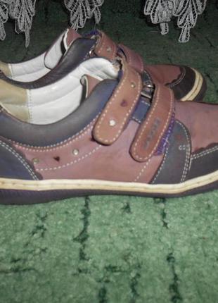 Кожаные кроссовки lasocki на липучках. оригинал!