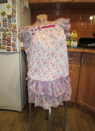 Шифоновый сарафан, платье