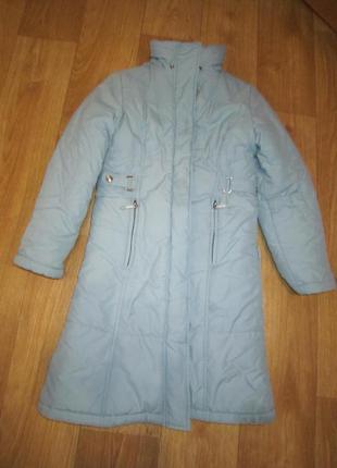 Теплое зимнее пальто, куртка на 9-11 лет