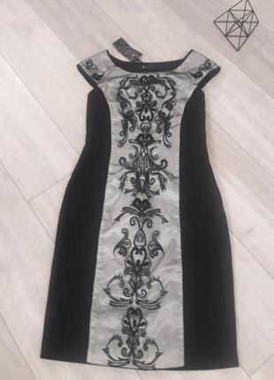 Черное коктейльное платье футляр. от известного бренда coast
