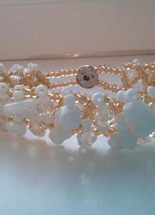 Очень красивый браслет с натуральными камнями. кохалонг.