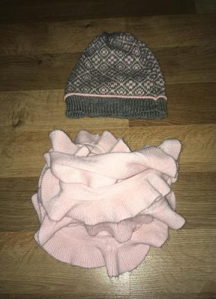 Комплект шапка и шарф-хомут, снуд