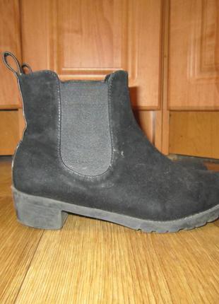 """Замшевые ботинки """"челси"""", р.32"""