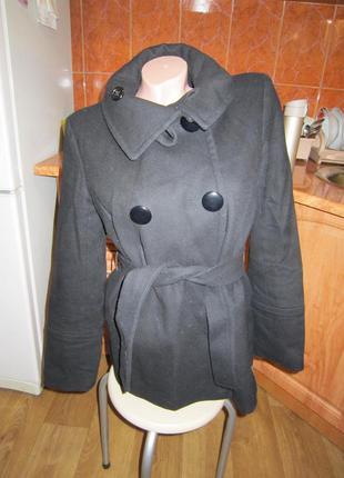 Шерстяное пальто, куртка, жакет, р.44-46