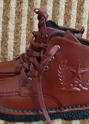 Женские демисезонные ботинки на флисе