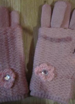 Перчатки-митенки 3 в 1 тёплые
