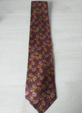 Paco rabanne   шелковый галстук