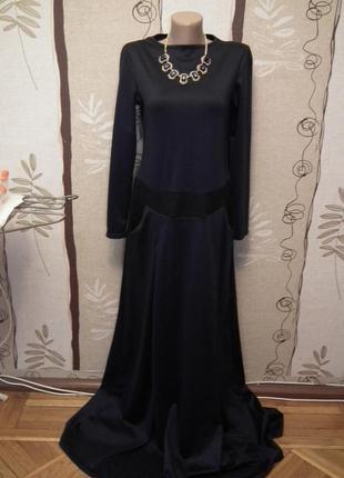 Очень красивое темно- синее платье в пол, личная вещь, почти н...