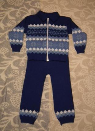 Отличный трикотажный теплый костюм на малыша 1,5-3 года