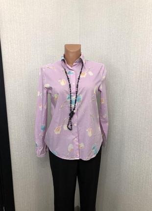 Хлопковая рубашка с цветочным принтом