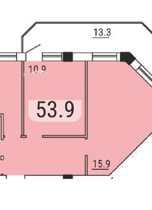 2 комнатная квартира в современном ЖК в Малиновском районе