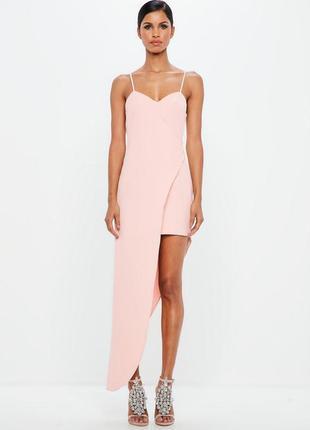 Sale  вечернее выпускное нежно розовое платье с асимметричным ...