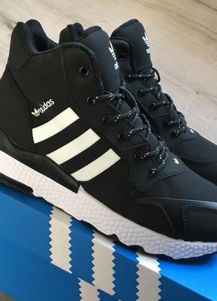 Зимние мужские кроссовки ботинки adidas nite jogger