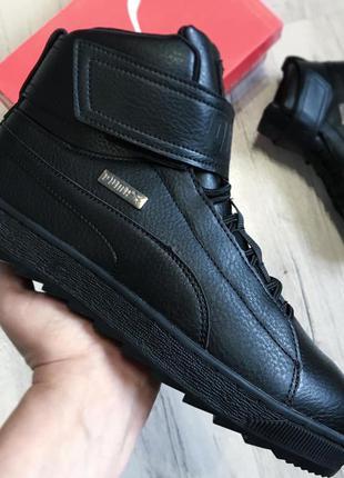 Зимние мужские кроссовки ботинки puma platform trace