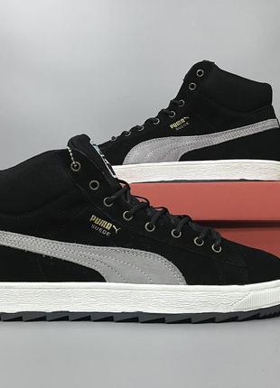 Зимние мужские кроссовки ботинки puma suede
