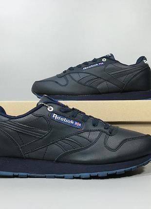 Зимние мужские кроссовки reebok classic blue