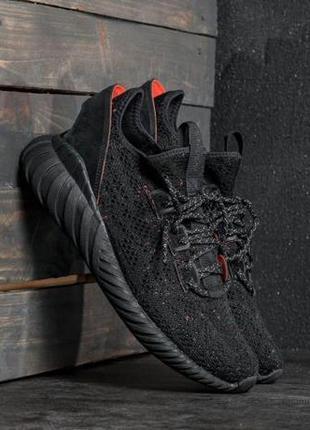 Мужские кроссовки adidas tubular doom sock black