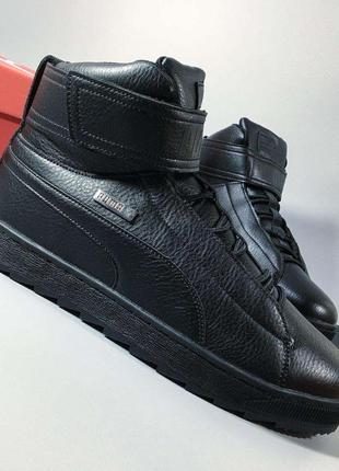 Мужские зимние ботинки кроссовки Puma Platform.