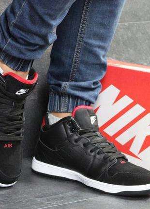 Мужские зимние ботинки кроссовки nike air jordan.