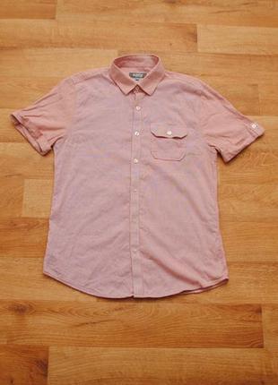 Чоловіча сорочка на короткий рукав easy, мужская рубашка, кора...