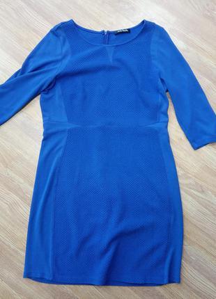 Брендовое, стильное платье цвета электрик