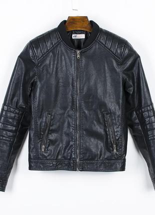 Кожаная куртка женская, куртка кожзам, байкерская курточка, ко...