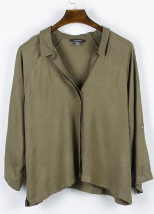 Оливковая рубашка женская, стильная рубашка хаки, весенняя руб...