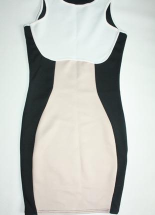 Платье неопрен геометрия футляр черный, белый, бежевый вечерне...