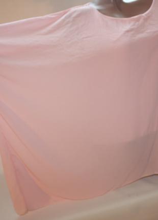 Блузка новая розовая шифон oversize италия j&dianna (к029)
