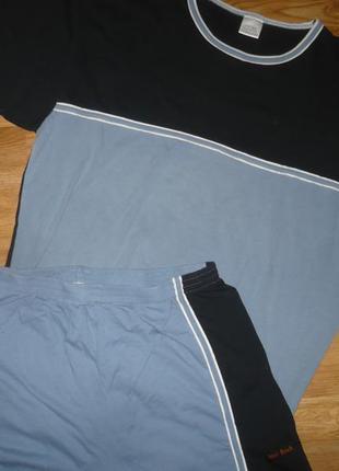 Пижама мужская костюм летний xl хлопок 100%