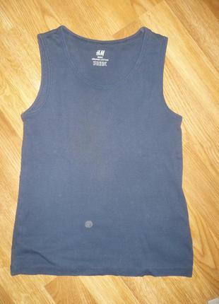 Майка синяя для мальчика 6-8 лет h&m нижнее белье