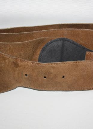 Ремень кожаный 100% натуральная кожа широкий коричневый wareho...