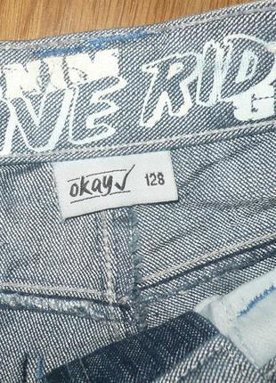 Шорты джинсовые на мальчика 128р. okay