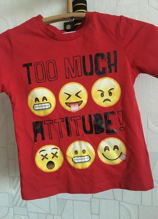 Детская футболка смайлик турция