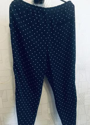 Шикарные брюки в горошек zara basic