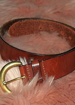 Ремень кожаный кожа натуральная 100% next коричневый рыжий (к040)