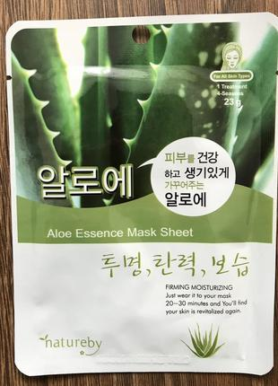 Тканевая маска с алоэ natureby aloe essence mask sheet