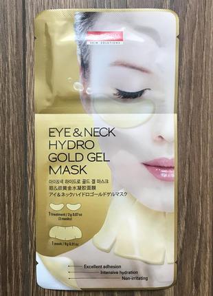 Маска для глаз и шеи purederm eye & neck hydro gold gel mask