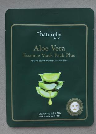 Тканевая премиум маска с алоэ вера natureby aloe vera essence ...