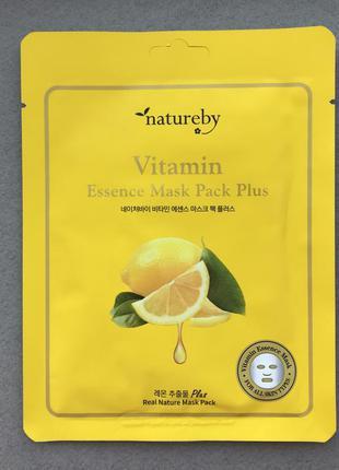 Витаминная тканевая премиум маска natureby vitamin essence mas...