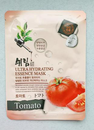 Ультраувлажняющая тканевая маска с томатом shelim tomato ultra...